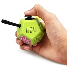 Антистресс кубик Fidget Cube Pro 2.0 12 граней питчер (Зеленый)