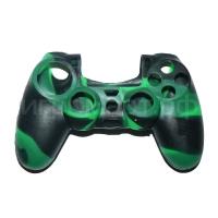 Чехол для Dualshock 4 Silicone Cover Camouflage Green-Black зелено-черный силиконовый (ps4)
