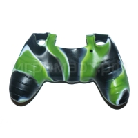 Чехол для Dualshock 4 Silicone Cover Camouflage White-Green-Black Бело-зелено-черный силиконовый (ps4)