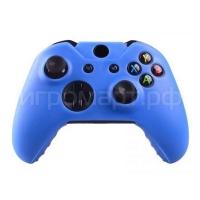 Чехол для геймпада Xbox One Silicone Cover Blue синий силиконовый (xone)