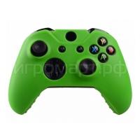 Чехол для геймпада Xbox One Silicone Cover Green зеленый силиконовый (xone)