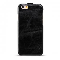 Чехол-флип из натуральной кожи Hoco для iPhone 6 Черный
