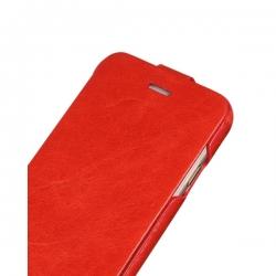 Чехол-флип из натуральной кожи Hoco для iPhone 6 Оранжевый