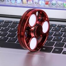 Spinner Спиннер крутилка металл Колесо с Led подсветкой (Красный)