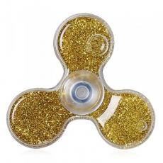 Spinner Спиннер крутилка треугольник с блестками (Золотой)