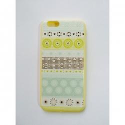 Пластиковый Чехол-накладка с силиконовыми боками Swarovski для iPhone 6 Снежинки