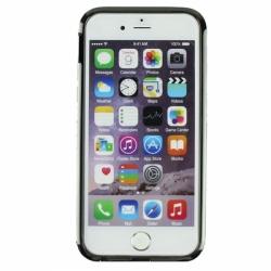 Металлический легкий бампер со стразами Crystal Light на iPhone 6 Черный