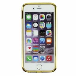 Металлический бампер Crystal Ring (Кольцо) со стразами на iPhone 6 Золото