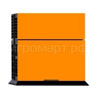 Наклейка на PlayStation 4 Monochrome Оrange Оранжевая (ps4)