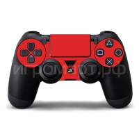 Наклейка на PlayStation 4 Monochrome Red Красная (ps4)