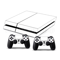 Наклейка на PlayStation 4 Monochrome White Белая (ps4)
