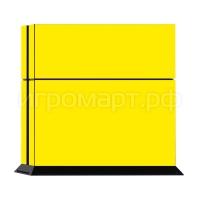 Наклейка на PlayStation 4 Monochrome Yellow Желтая (ps4)