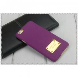 Пластиковый Чехол-накладка софттач Michael Kors для iPhone 6 Фиолетовый