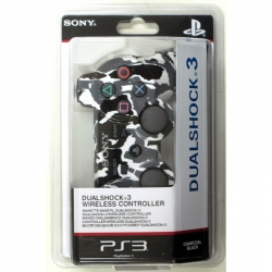 Беспроводной Геймпад Sony Dualshock 3 (ps3) (камуфляж White-Black-Grey) для PlayStation 3
