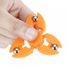 Spinner Спиннер крутилка с тремя стальными шариками (Оранжевый)