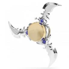 Spinner Спиннер крутилка треугольник металлический Ножи (Серебристый)