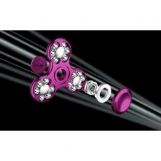 Spinner Спиннер крутилка треугольник металлический со стальными шариками (Розовый)