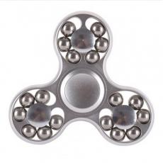 Spinner Спиннер крутилка треугольник металлический со стальными шариками (Серебристый)