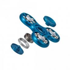 Spinner Спиннер крутилка треугольник металлический со стальными шариками (Синий)