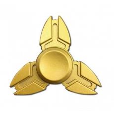 Spinner Спиннер крутилка металлический треугольник техно (Желтый)