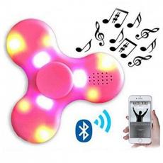 Спиннер с LED подсветкой светящийся и с Bluetooth (Розовый)