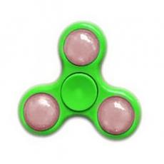 Спиннер с LED подсветкой светящийся выпуклая форма (Зеленый)