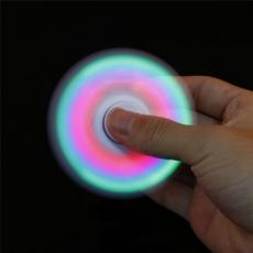 Спиннер с LED подсветкой светящийся выпуклая форма (Белый)