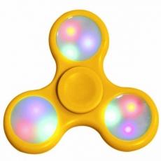 Спиннер с LED подсветкой светящийся выпуклая форма (Желтый светлый)