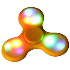 Спиннер с LED подсветкой светящийся выпуклая форма (Желтый)