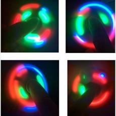 Спиннер с LED подсветкой светящийся выпуклая форма (Голубой)