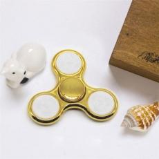 Spinner Спиннер крутилка треугольник глянцевый под металл с LED подсветкой (Золотой)