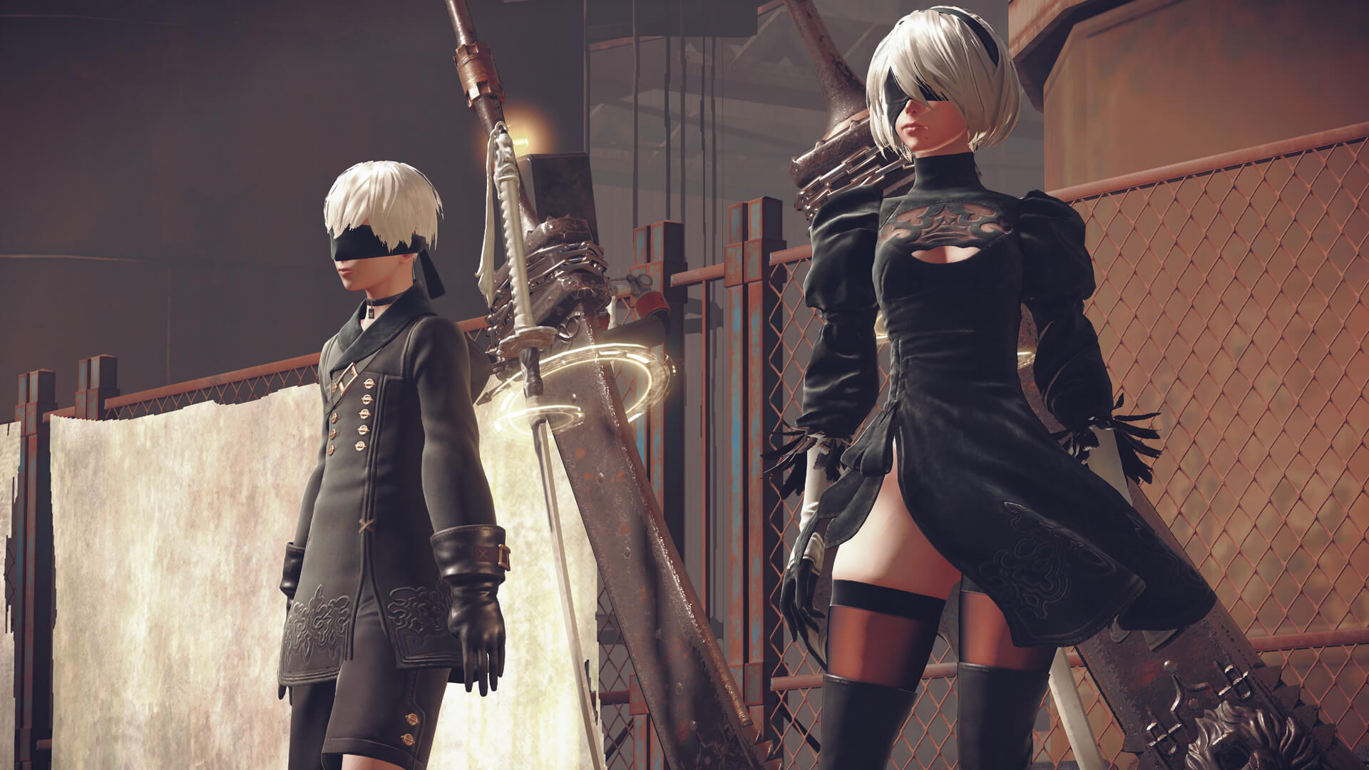 NieR Automata 9S and 2B
